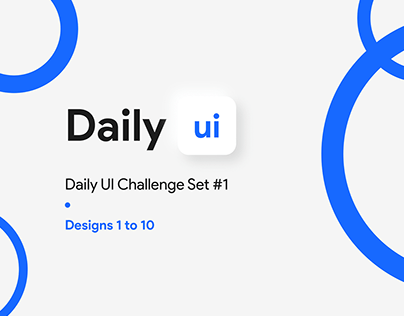 Daily UI Challenge - #1 to #10
