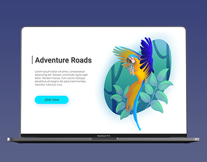 WILD NATURE // UI Illustration + Motion graphics