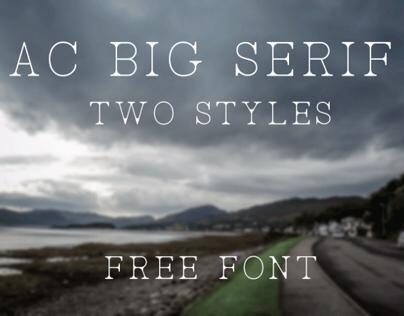 AC Big Serif (Free Font)