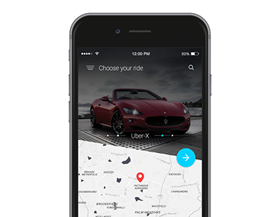 Uber Booking Screen Concept