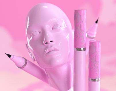 Eyeliner 3D design