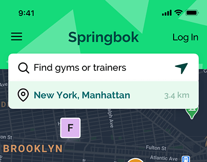 Springbok — fitness places & services marketplace