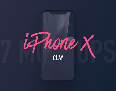 7 Most Popular iPhone X Clay Mockups
