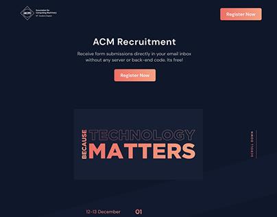 ACM-VIT Recruitment Website UI