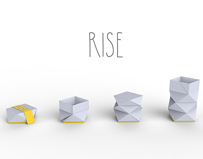 RISE: A Packaging that grows and reveals its contents