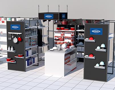 Expositor Store in Store Brinox