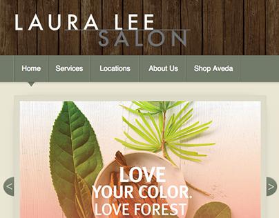 Laura Lee Salon Website Design
