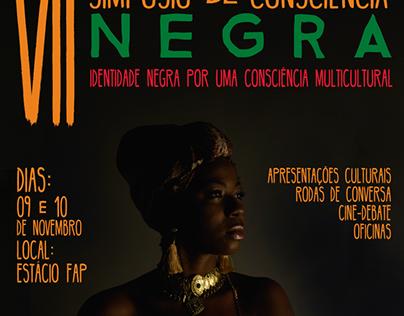 Cartaz VII Simpósio de consciência negra