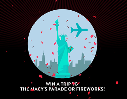 Macy's Black Friday Walkin and Win App Info animation