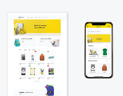 landing page Back to school campaign - Noon
