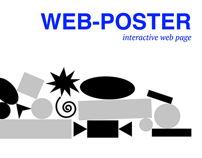 Web poster OMM NOM | interactive web page