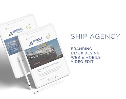 SHIP AGENCY/UI-UX DESING/BRANDING/VIDEO EDIT