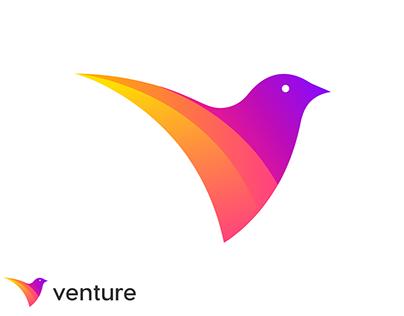 Venture logo design | V letter mark