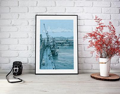 Harbour Illustration #1