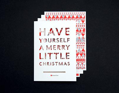 Street One Weihnachtskarte