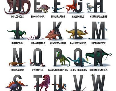 The Dinosaur Alphabet Poster