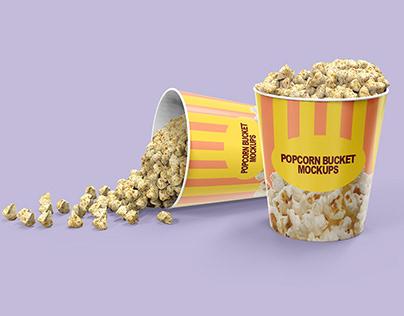Popcorn Bucket Packaging Mockups