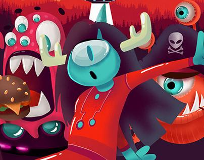 Monsters illustration concept/ Концепт монстров