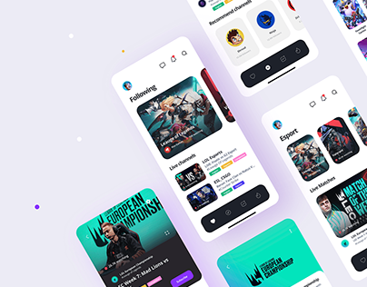 Game Streaming App Design Concept