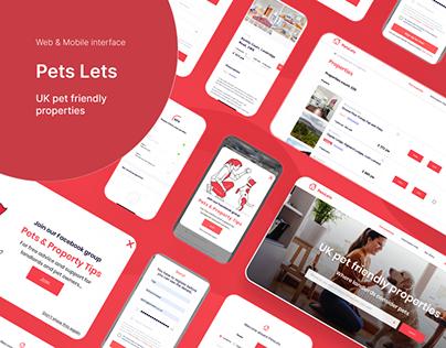 Pets Lets — Web & Mobile Interface