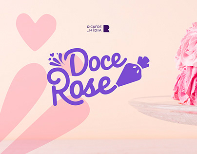 Doce Rose - Confeitaria - Pastry Logo