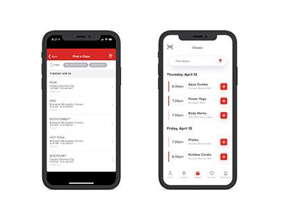 Goodlife Fitness App Redesign