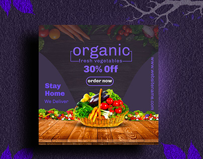 Social Media Post Design for vegetable shop