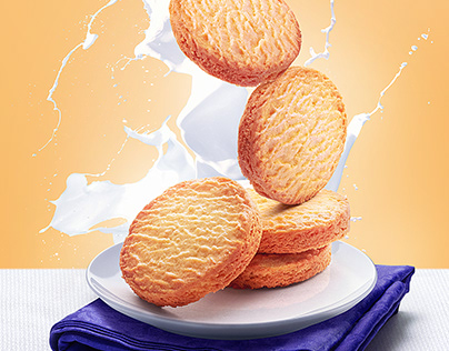 Butter cookies - Compositing process