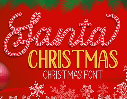 Santa Christmas - A Cute Holiday Font