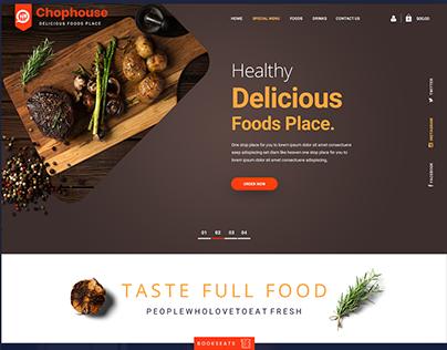 Chophouse Website Home Page Design