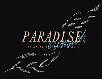 PARADISE ELEMENTS - FREE FLORAL GRAPHICS PACK