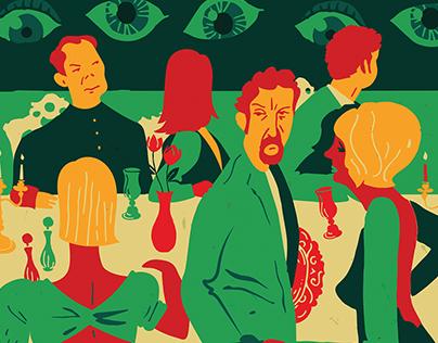 Buñuel's Broadway Dreams Illustration