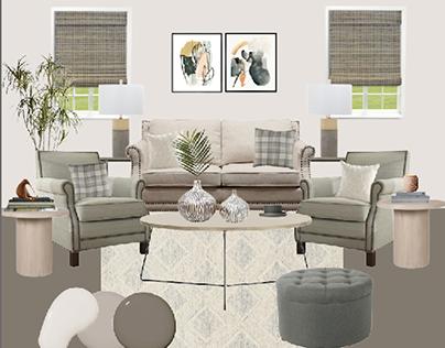 Living Room Project: Serene Green