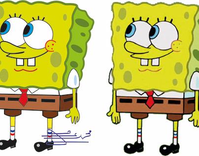 Sponge pop cartoon character