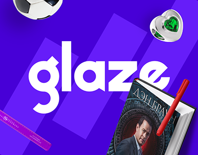 Online retailer Glaze   Branding