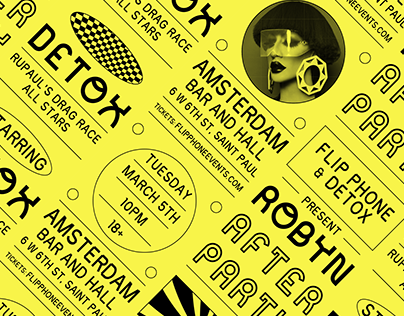 Flip Phone & Detox: Robyn After Party Posters
