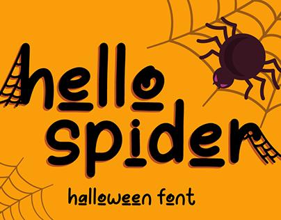 Hello Spider | Halloween Font