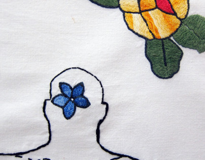 Aunt Lenka's embroidery for the dowry