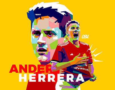 Manchester United Players in WPAP Illustrations