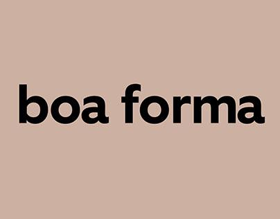 redesenho do logo da nova BOA FORMA