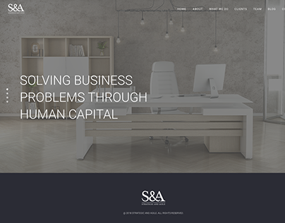 S&A Website UI Design