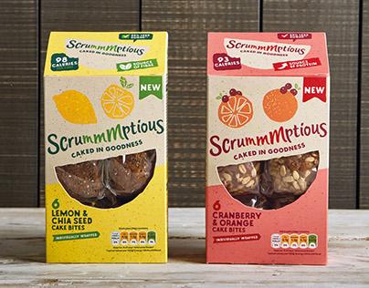 Scrummmptious branding and packaging