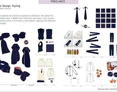 Uniform design, styling and pattern work 4 Metro Turizm