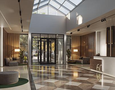 Lobby interior. P60 project.