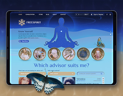 Esoteric Consultation Wicca Spiritual Shop (Web Design)
