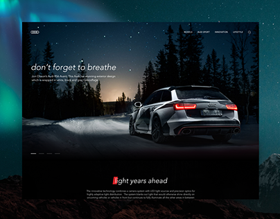 Audi RS6 promo page