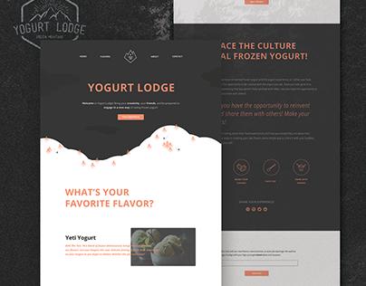 Yogurt Lodge: Web Design