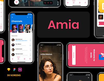 Amia - Messaging App UI Kit