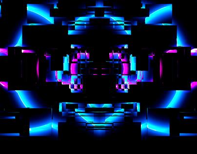 Neon glitch fx