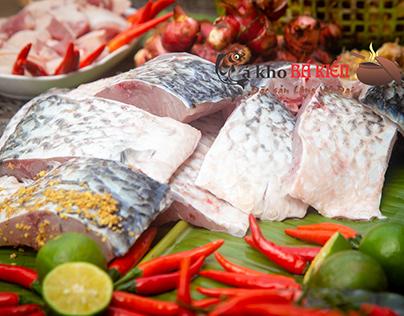 Chuẩn bị nguyên liệu, gia vị sẵn sàng để làm món cá kho